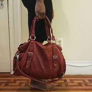 Leather medium/large satchel